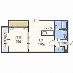 クリステル東札幌[4階]の間取り