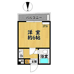 HS北野田[302号室]の間取り