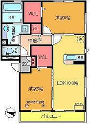 カーサ青井[1階]の間取り