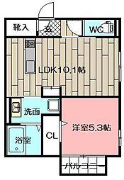 (仮)D-room砂津[204号室]の間取り