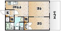 リバーサイド塚田[1階]の間取り