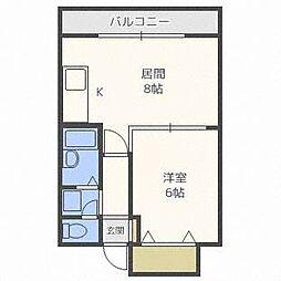 ドミローレル第8[9階]の間取り