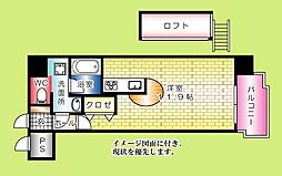 グランドポレストーネ大手町弐番館[304号室]の間取り