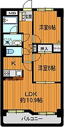 第6田中ビル[3階]の間取り