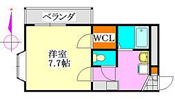 アルモ津田沼[3階]の間取り