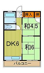 寺田コーポ[3階]の間取り