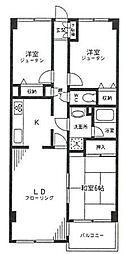 埼玉県さいたま市浦和区本太1丁目の賃貸マンションの間取り