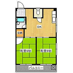 兵庫県宝塚市御所の前町の賃貸マンションの間取り