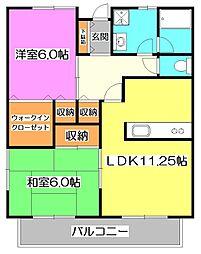 ジョーネピアII[2階]の間取り