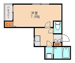 Aレガート福大南[2階]の間取り