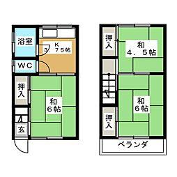 伊深アパートA[2階]の間取り