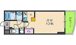 カスタリア新梅田[6階]の間取り