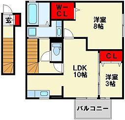 セジュールS・A[2階]の間取り