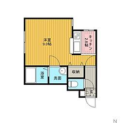 北海道江別市大麻泉町の賃貸アパートの間取り