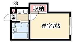 愛知県名古屋市天白区植田西3丁目の賃貸アパートの間取り