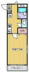 シェルム西五反田[1階]の間取り