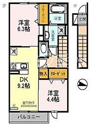 エクレール福井[2022号室]の間取り