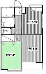 ルネ小金井[203号室]の間取り