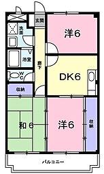 フィオーレ・ヤマダ[3階]の間取り