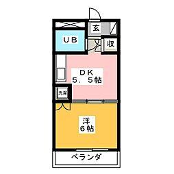 ラポール横割[2階]の間取り