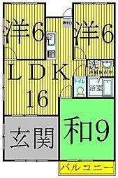 サンライズ柴崎[101号室]の間取り