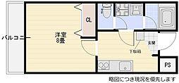 千里丘駅 徒歩5分1階Fの間取り画像