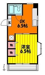 栗山ビルヤマキマンション[403号室]の間取り