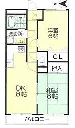 エポック新横浜[403号室]の間取り