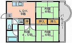 岡山県岡山市北区天神町の賃貸マンションの間取り