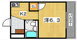 くずは西プラザ[2階]の間取り