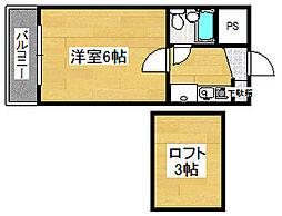 埼玉県ふじみ野市清見2丁目の賃貸アパートの間取り