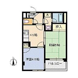 カーサ石井[303号室]の間取り