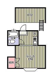 亥鼻ハイリビング壱番館[206号室]の間取り