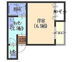 やまさマンション[505号室]の間取り