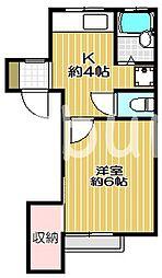 パンシオン大和[2階]の間取り