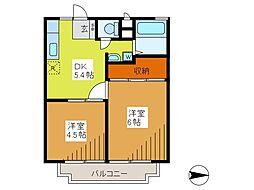 コーラルフラット[2階]の間取り