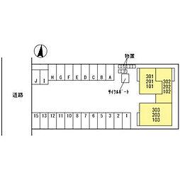 仮)D-room諸江II[202号室]の外観