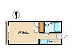 東京都中野区丸山2丁目の賃貸アパートの間取り