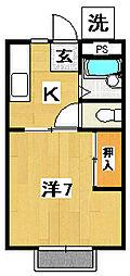 フィオリート諏訪[2階]の間取り