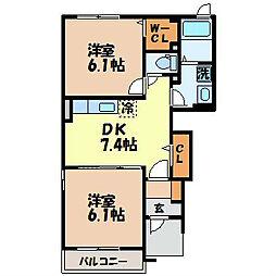 長崎県諫早市多良見町シーサイドの賃貸アパートの間取り
