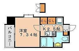 サヴォイ博多ブールバール[6階]の間取り