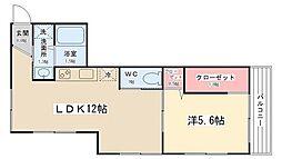 サンシャインハイツ・カジワラ[1階]の間取り