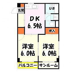 MKC西新井橋ハイツ[204号室]の間取り