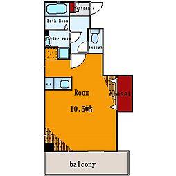 メゾンドソレイユ[4階]の間取り