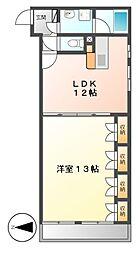 ラディアント矢場[4階]の間取り