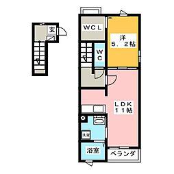 カームシティーIT[2階]の間取り