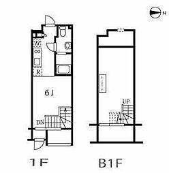東急東横線 自由が丘駅 徒歩4分の賃貸マンション 1階1LDKの間取り
