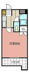 グランドール富士見[303号室]の間取り