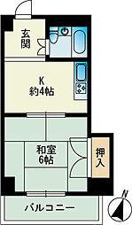サンアイマンション[402号室]の間取り