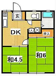 関山ハイツ[101号室]の間取り